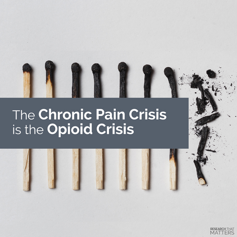 Chronic Pain Crisis is the Opioid Crisis